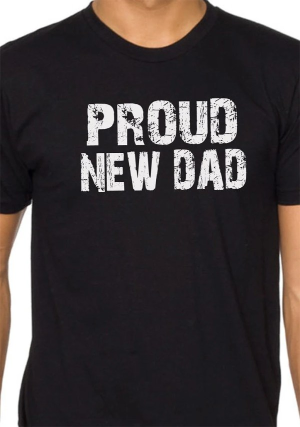 Husband Gift Proud New DAD Mens T shirt Holiday Gift Christmas