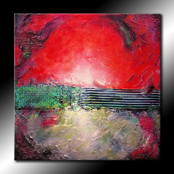 Textured Original Abstract Painting 30x30 Canvas Modern
