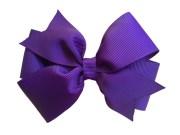 4 dark purple hair bow