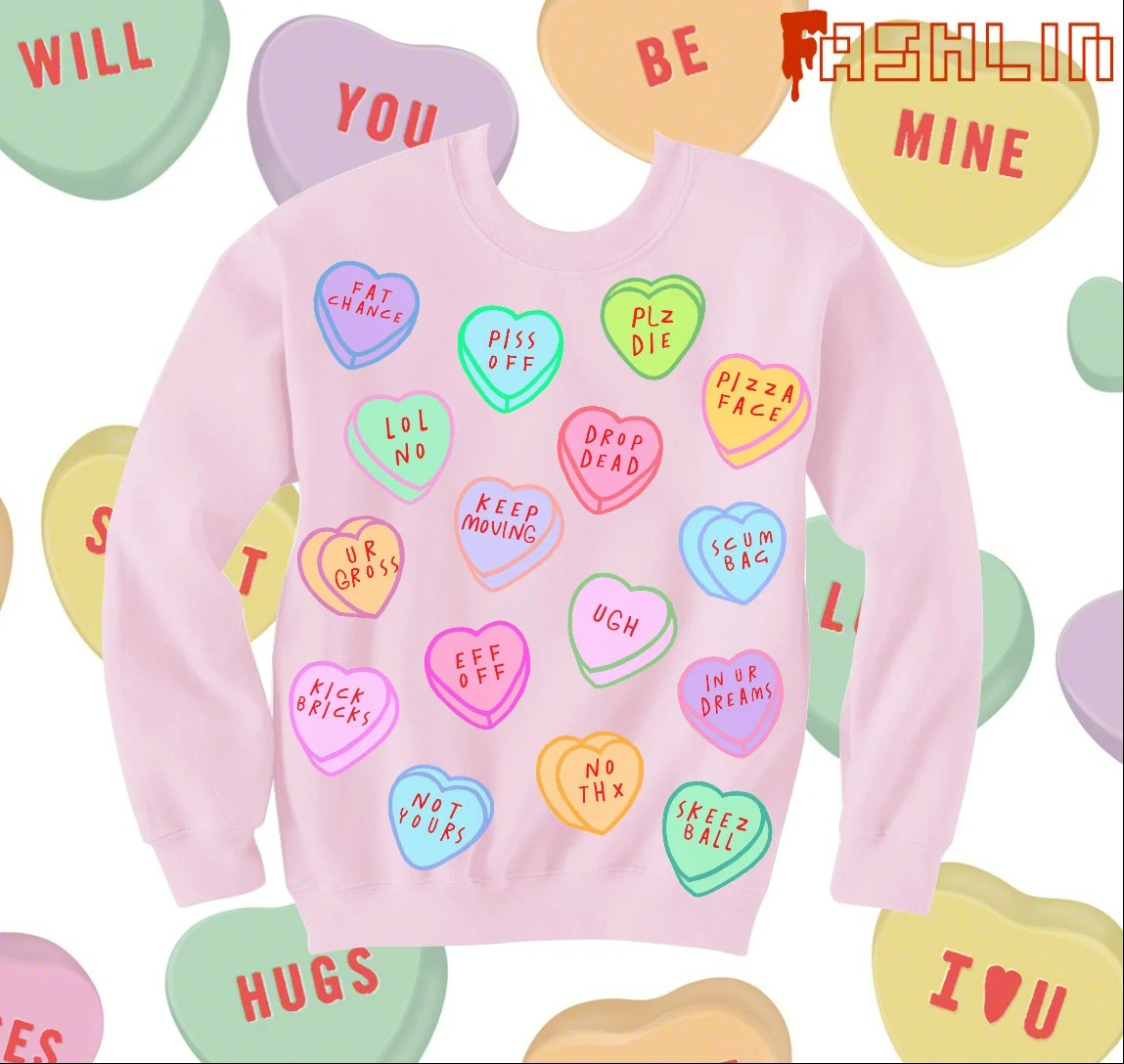 Insult Heart Candy Kawaii Sweatshirt // Pastel Goth // fASHLIN