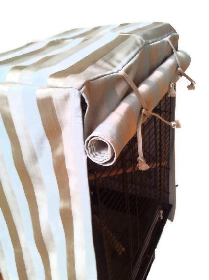 Gold Stripe Bird Cage Cover by EJCDezines on Etsy