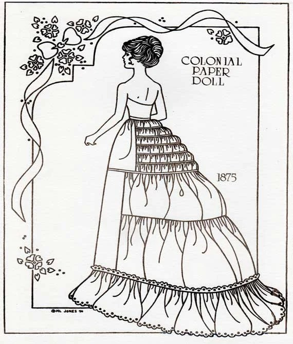 Items similar to Printable paper doll, paper doll download