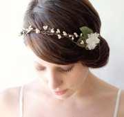rustic bridal head piece wedding