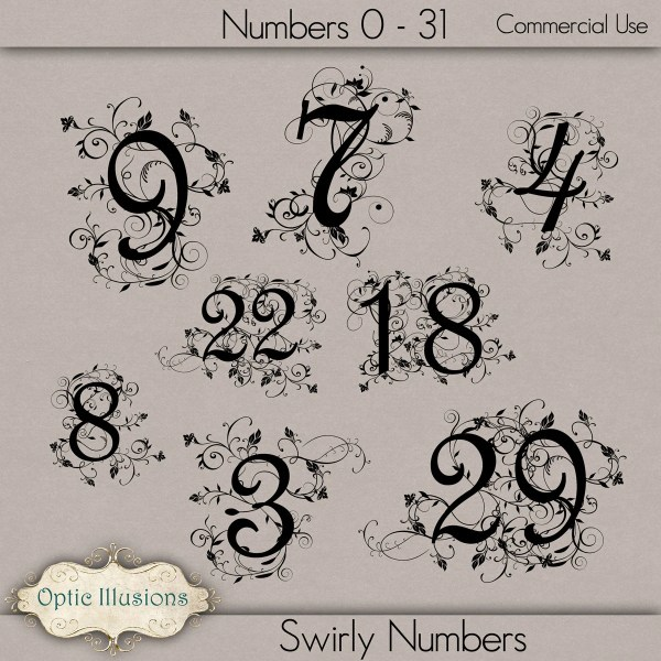 Fancy Number Fonts Tattoo