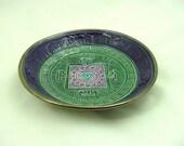 Tibetan Yantra Divine Feminine Offering Bowl Ceramic Pottery - DeBaunFineCeramics