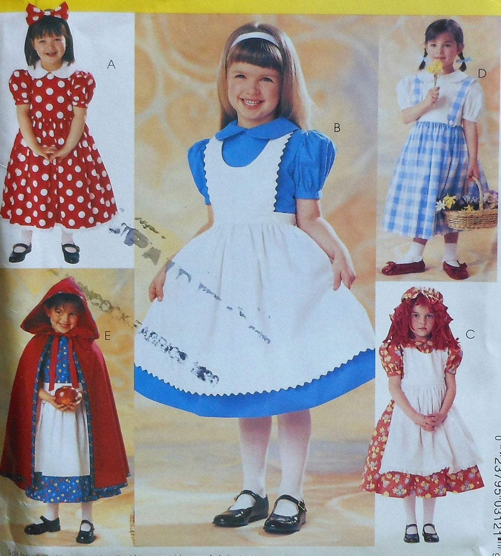 Fairy Tale Costume Dresses Sewing Pattern Uncut Mccalls P312