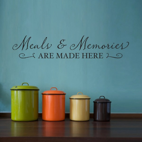 Meals & Memories Wall Decal Kitchen