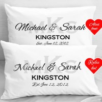 Personalized Wedding Pillow Cases Anniversary by eugenie2 ...