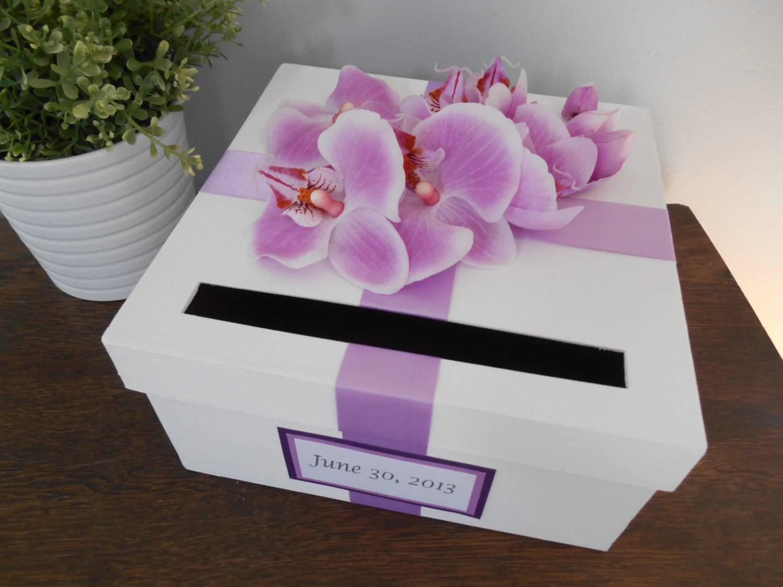 Wedding Card Box Bridal Shower Small Intimate Wedding Lavender