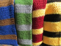 All Four Hogwarts House Color Scarves Adult Size Custom