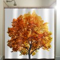 Fall colors autumn tree shower curtain bathroom decor fabric kids bath
