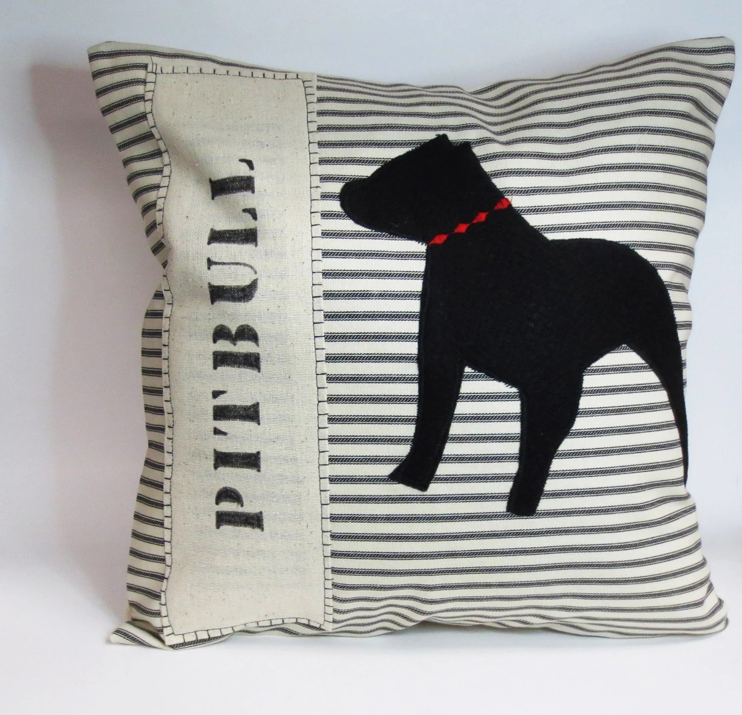 Pit Bull Pillow Cover Dog Pillow Decorative Pillow