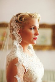 wedding veil handmade chapel lace