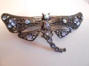 vintage hair clip barrette dragonfly