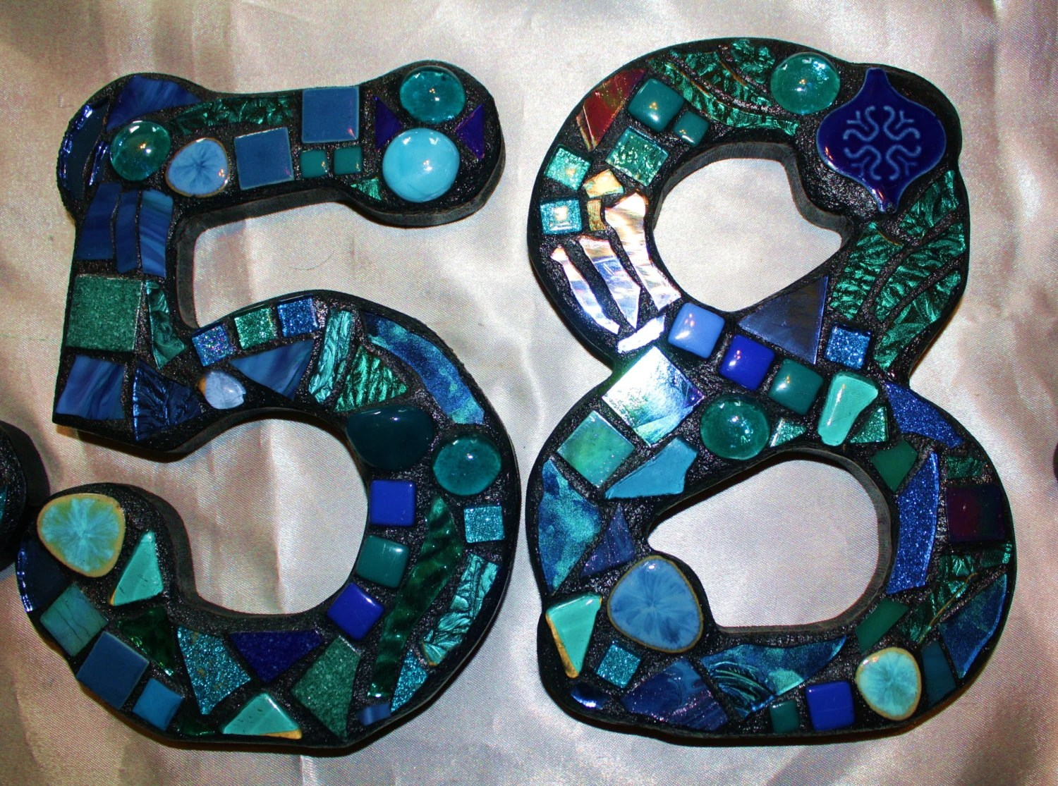 Glass House Numbers Modern House