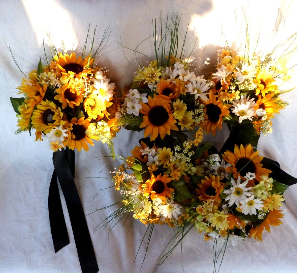 Reserved Sunflower And Daisy Bridal Bouquets Wedding Bouquets