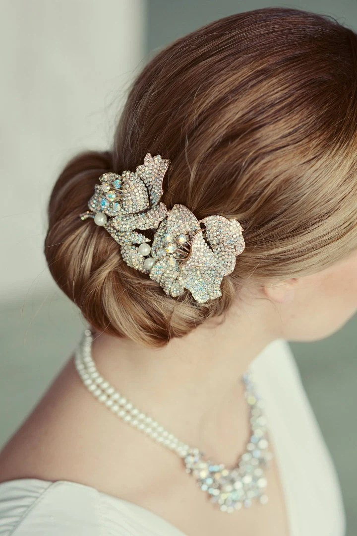 Items Similar To Vintage Inspired Crystal Wedding Comb