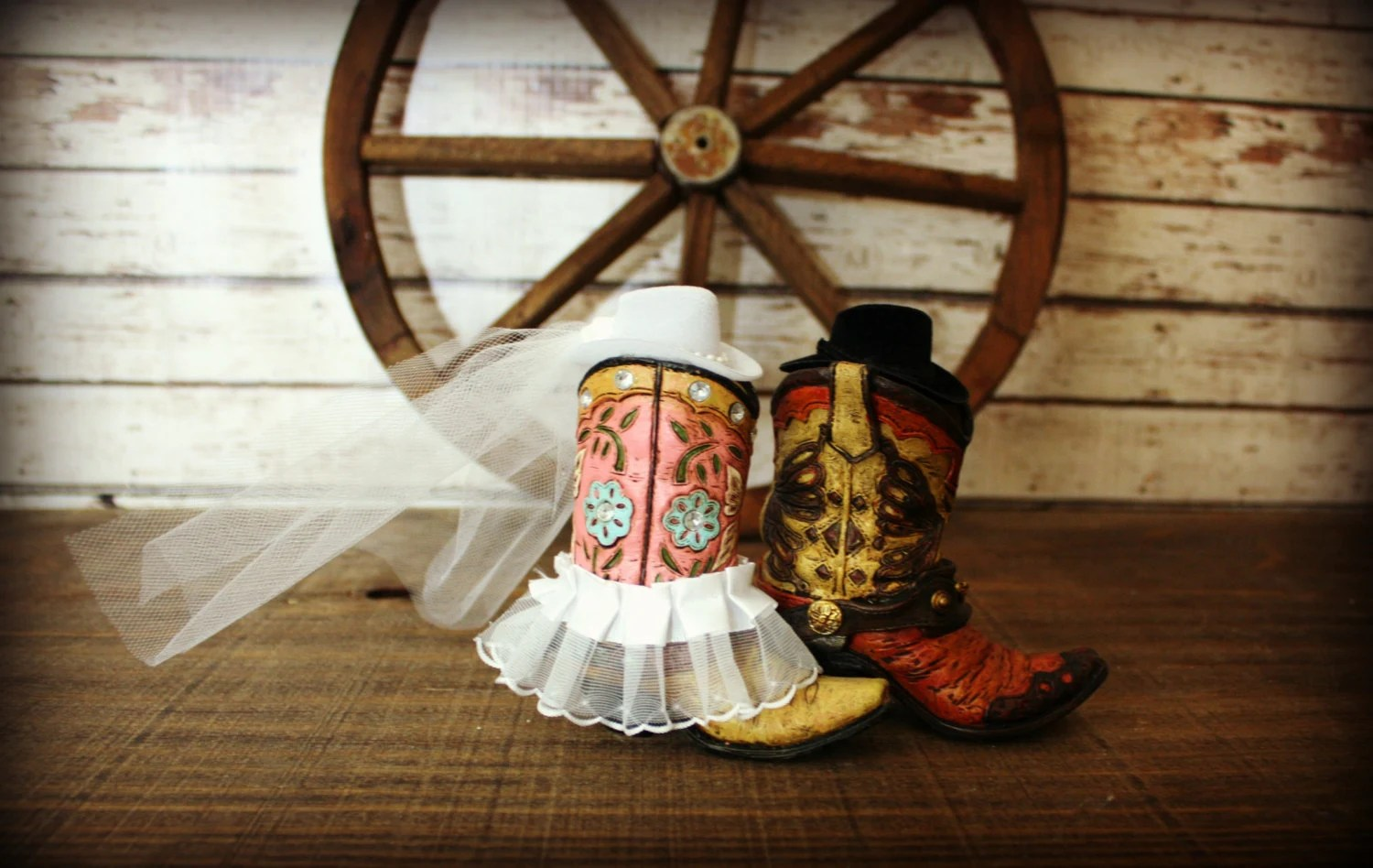 Cowboy Boots Wedding Cake TopperWestern Themed