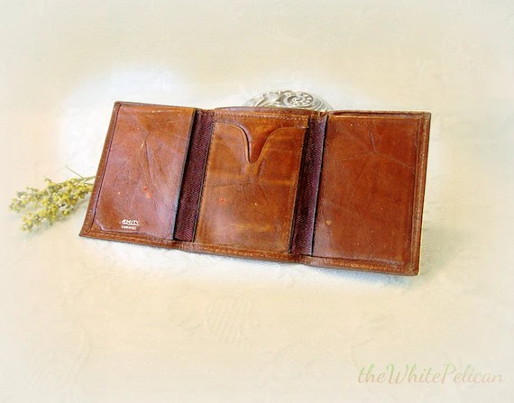 Old Amity Trifold Leather Wallet  men or women by TheWhitePelican