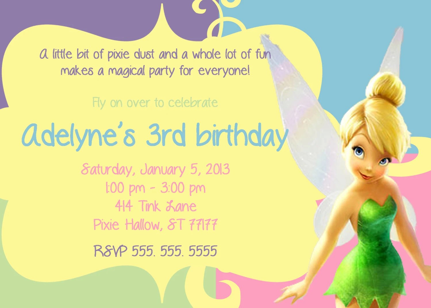 Printable Invitations Tinkerbell
