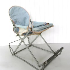 Walker Bouncing Chair Panton S Vintage Blue Doll Bouncy Seat Child Toy Baby
