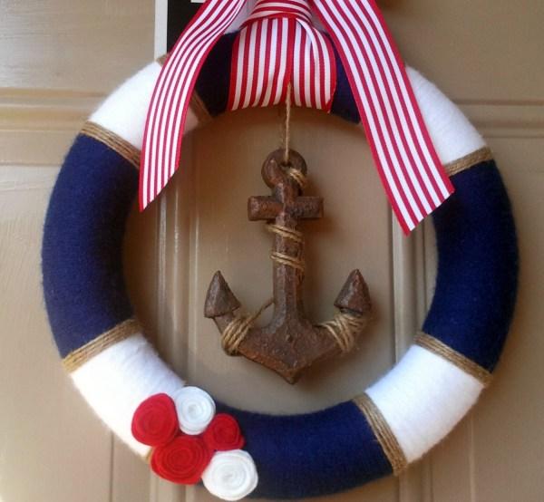 Nautical Baby Shower Wreath