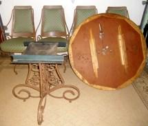 Vintage Wrought Iron Dining Set Patio
