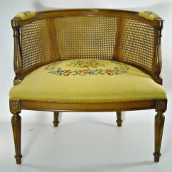 Mid Century Cane Barrel Chair Chairs That Swivel And Rock Reserved Back By