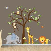 Gender Neutral Wall Decal Safari Wall Decal Tree Wall Decal