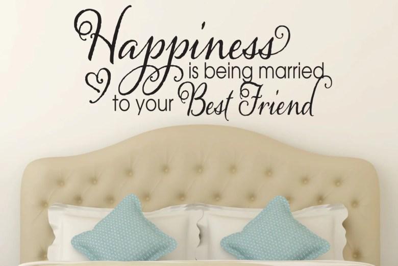 Happiness is Being Married to Your Best Friend Wall Decal by Davis VinylDesignsDavisVinylDesigns