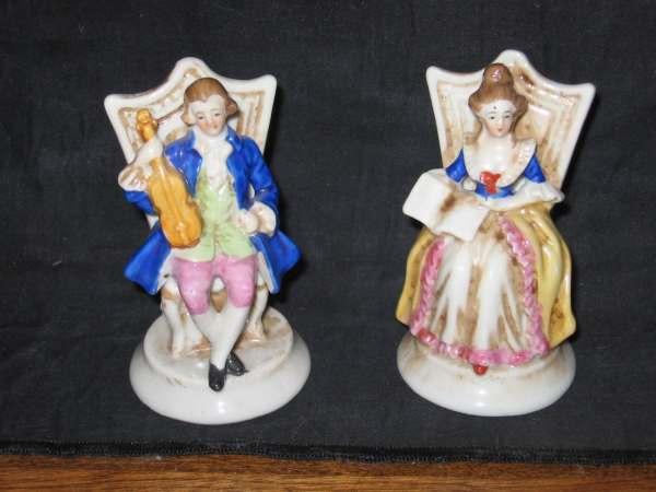 Vintage Figurines In Occupied Japan Music Violin