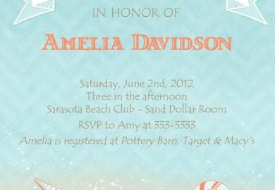 Free Printable Beach Bridal Shower Invitations