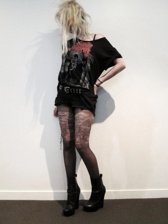Items similar to Whore of Babylon  Tattoo tights on Etsy