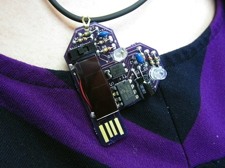 Intermediate Kit Make Your Own Blinking Purple Heart Solar Powered