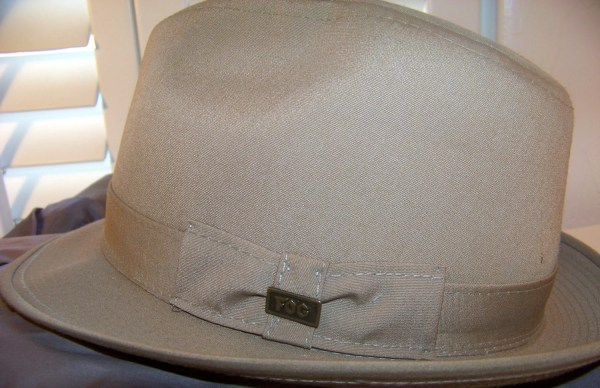 88af6183cc839f Vintage Rain Hat. London Fog. Canvas Fedora. Taupe. Size L