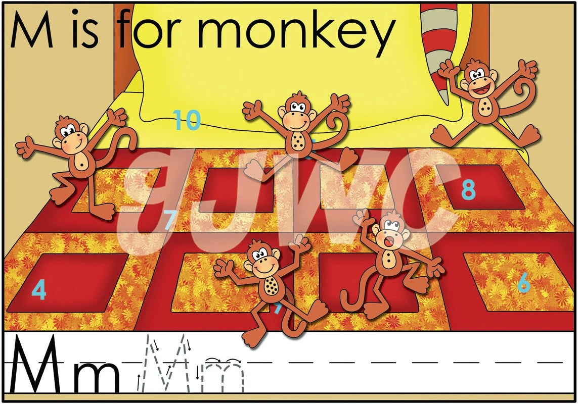 M Is For Monkey Alphabet File Folder Game Downloadable