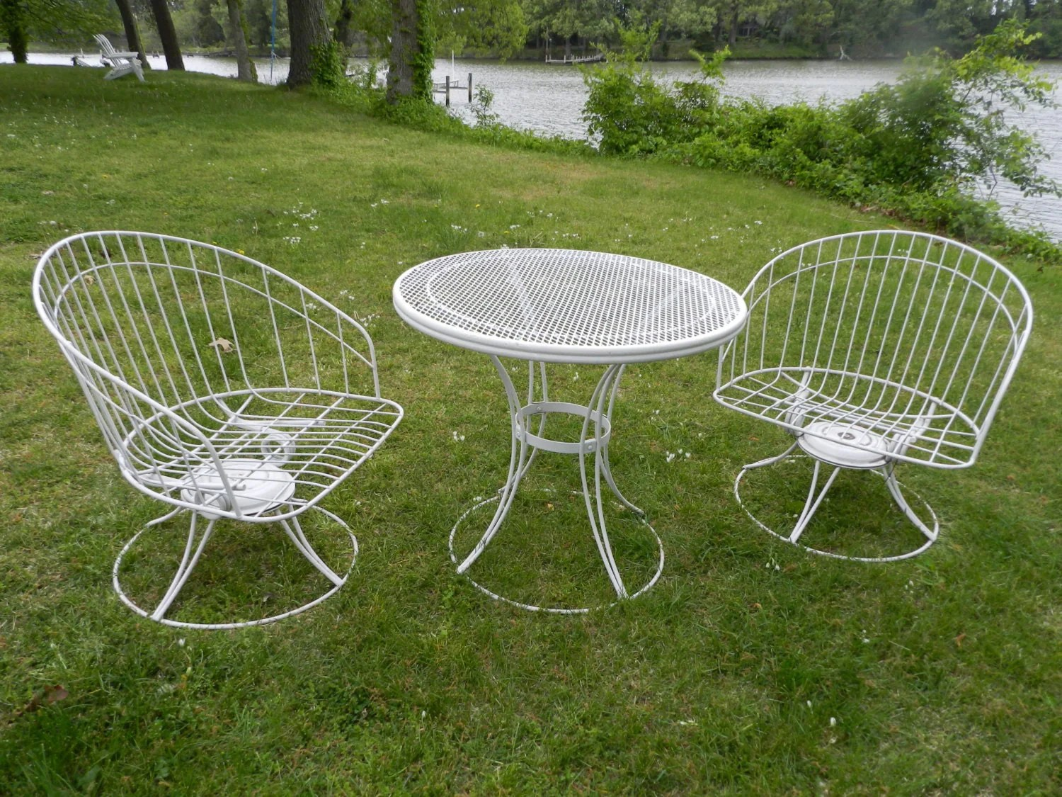 Mid Century Patio Chairs Homecrest Pair Mid Century Outdoor Tub Chairs