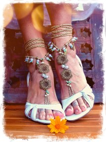 Pearl Wedding Barefoot Sandals Toe Anklet Natural Gpyoga
