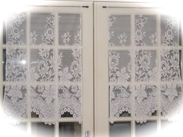 Ivory Cafe Curtains French Lace Kitchen