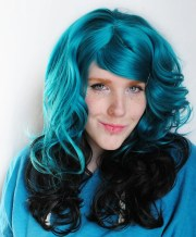 black forest wig turquoise teal