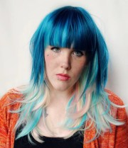 sugar rush wig blue pastel rainbow