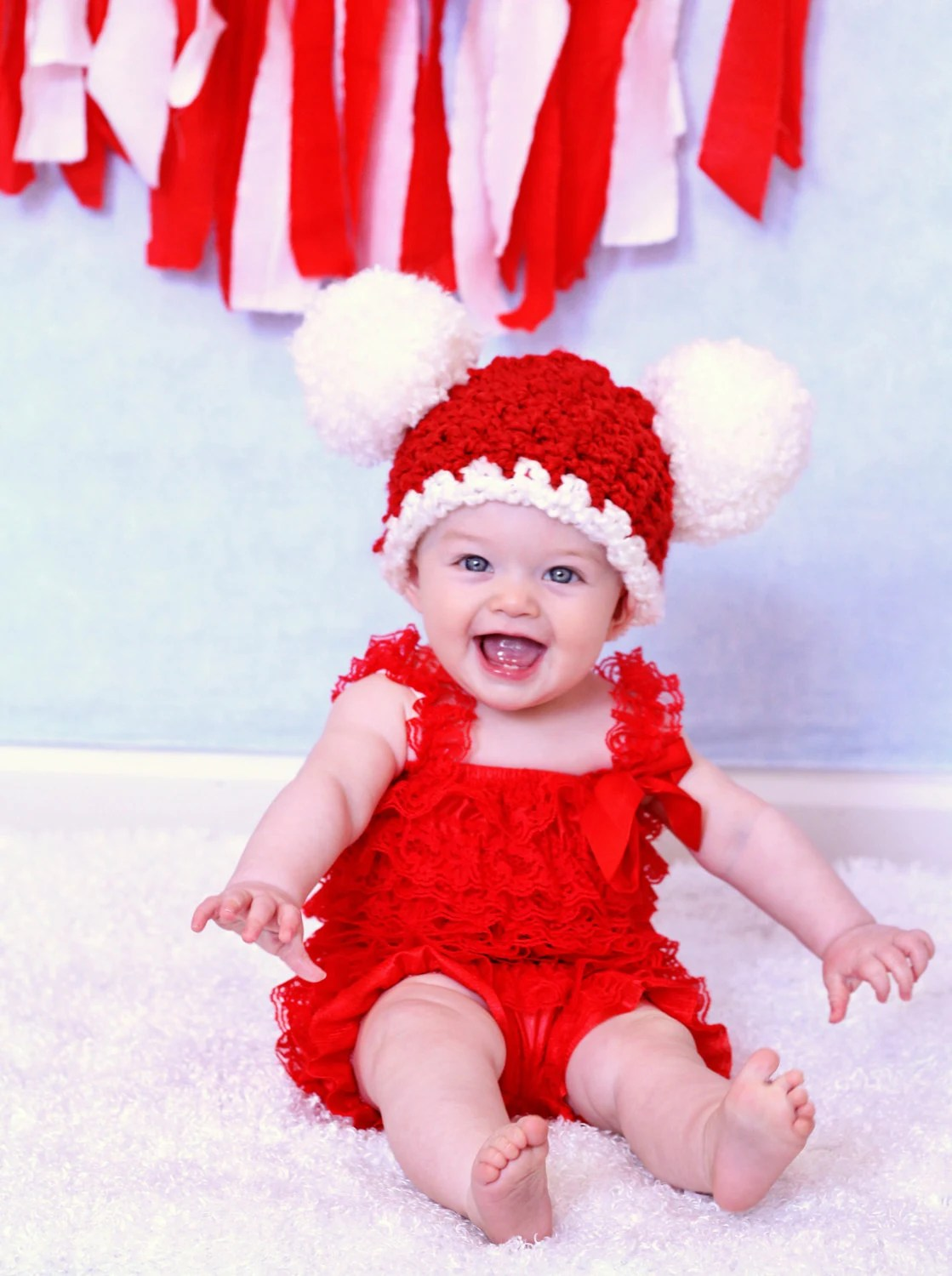Cute Newborn Baby Girl Wallpapers Christmas Baby Hat 6 To 9 Month Baby Santa Hat Baby Girl Hat