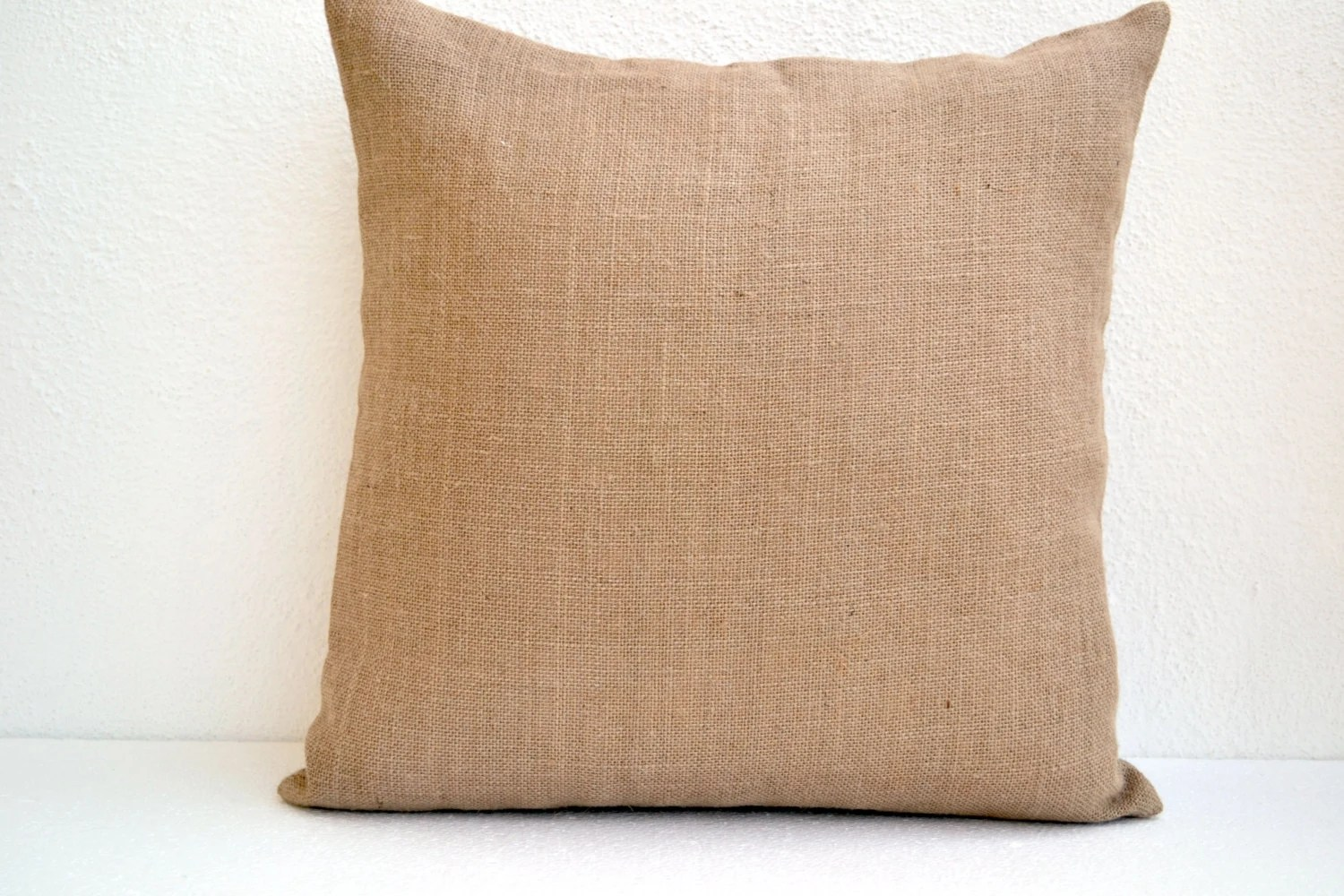 Burlap Chair Cushions Natural Burlap Pillow Cover Button Closure Decorative Throw