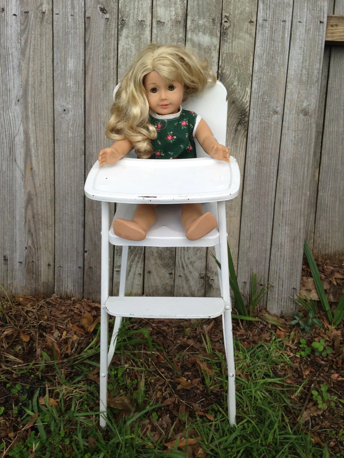 Antique 1950s Doll Highchair Amsco Cosco Vtg Doll E