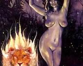 Strength Tarot Card (Fire...