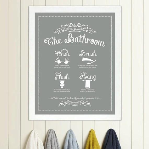 Guide to Procedures: The Bathroom print Bathroom Rules