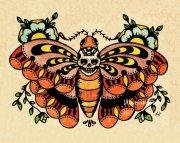 school tattoo art death moth