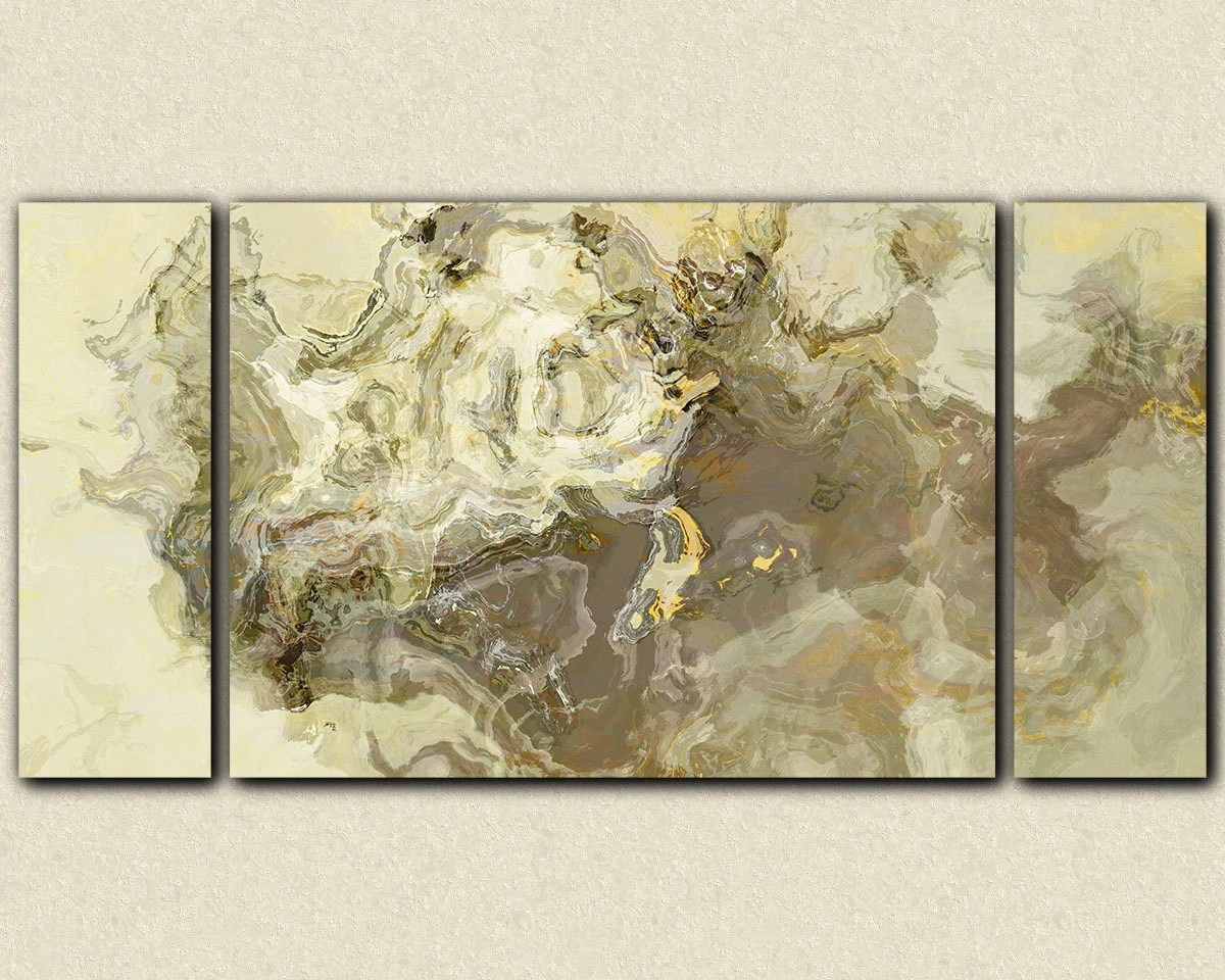 sofa paintings abstract air bed amazon size art triptych canvas print 30x60 to 40x78