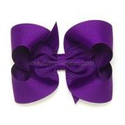 deep purple hair bow dark