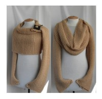 Sweater scarf / shawl with sleeves at both ends. FREE